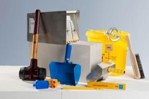 Werkzeug Set zur Verarbeitung von Kalksandsteinen