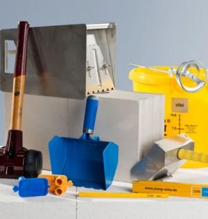 Das 10-teilige Set enthält die wichtigsten Werkzeuge zur Bearbeitung von Kalksandsteinen.