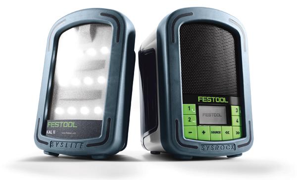 Festool Sysrock Baustellenradio ergänzt unplugged Akku-Programm