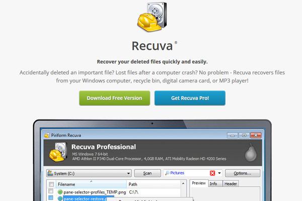 Datenrettung mit Recuva