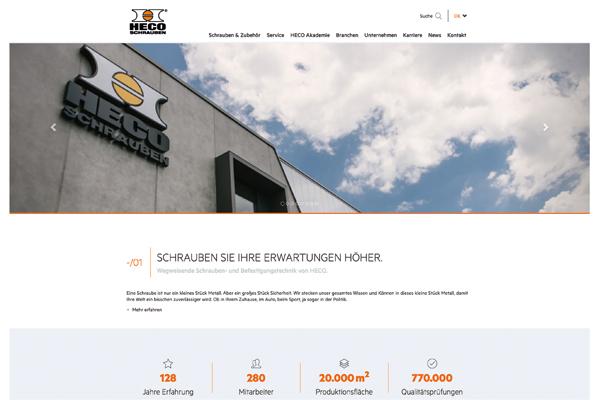 Relaunch Website Startseite
