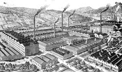 """Alte Werksansicht der """"Meterfabrik"""""""