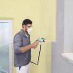 Kompaktes Airlessgerät mit weniger Sprühnebel