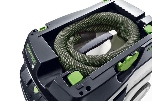 Die Absaugmobile CT 26, 36 und 48 haben eine Kabelaufwicklung für eine komfortable Anbindung der SYSTAINER auf dem Absaugmobil
