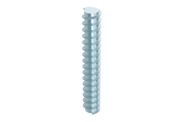 Die Gewindestangen mit Holzgewinde sind in zwei Durchmessern – 16 und 20 mm – und einer einheitlichen Länge von 3.000 mm erhältlich