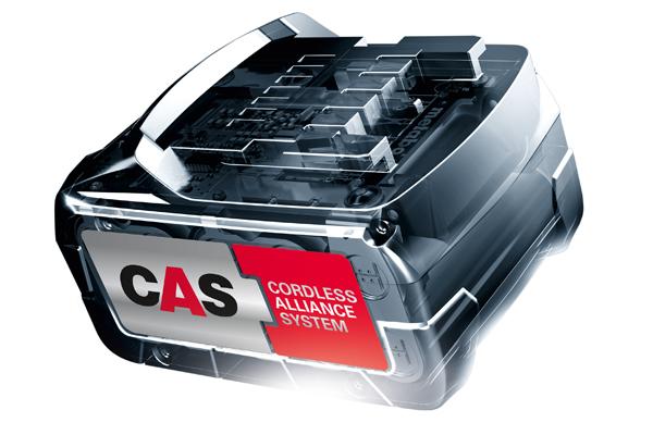 Der CAS-Akku passt auf alle Elektrowerkzeuge der an CAS beteiligten Hersteller.