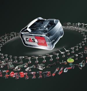 Das CAS-Akku-System ist mit den Akkuwerkzeugen von neun Herstellern kompatibel.