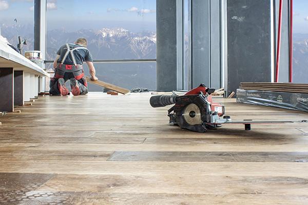 Zugspitze – Panorama 2962 – Massivholzfussboden verlegen