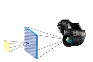 Das momentane Sichtfeld (IFOV) ist eine Winkelprojektion von nur einem Pixel des Detektors auf dem IR-Bild. Der Bereich, den jeder Pixel erkennen kann, hängt von Ihrer Entfernung vom Zielobjekt mit einem bestimmten Objektiv ab.