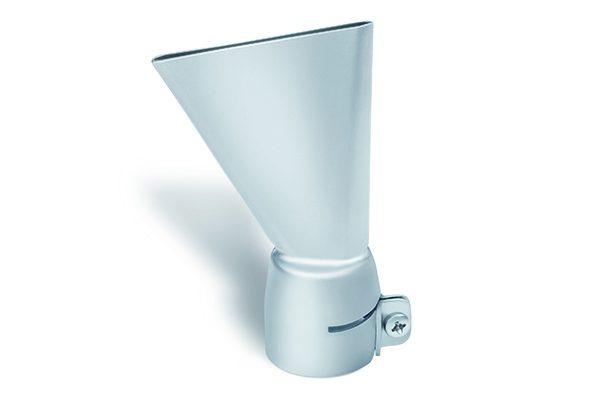 Die Flachdüse 60 x 2 mm wird zum Verschweißen von Bitumen verwendet.