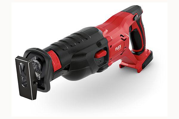 Flex 18-Volt Säbelsäge RS 29 18.0. Gewicht: 2,9 kg (ohne Akku). Hublänge: 29 mm.