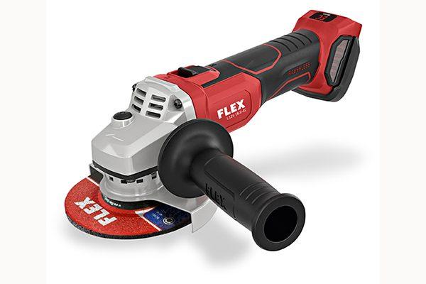 Flex 18-Volt Winkelschleifer L 125 18.0-EC. Gewicht: 1,75 kg (ohne Akku). Scheibendurchmesser: 125 mm.