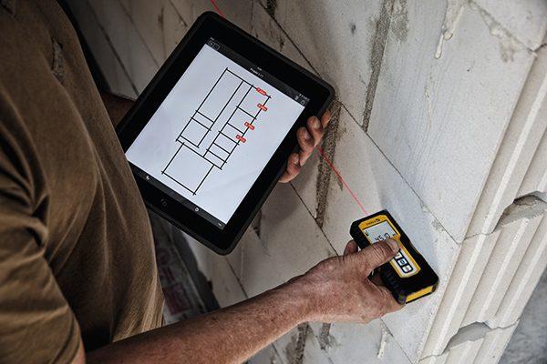 Laser-Entfernungsmesser mit Aufmaß-App