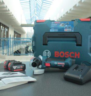 Lieferumfang Bosch Akku-Winkelschleifer GWX 18V-8 L-BOXX