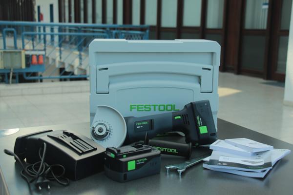 Festool Akku-Winkelschleifer AGC 18-125 Lieferumfang