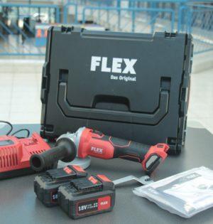Lieferumfang des Flex Akku-Winkelschleifer L 125 18.0-EC