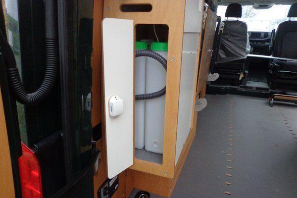 CargoClips Waschtisch