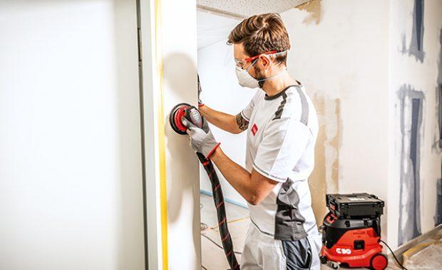 Sauberes Arbeiten: Die Dust-Box nimmt nahezu sämtlichen Baustaub auf und gibt nichts als saubere Luft ab