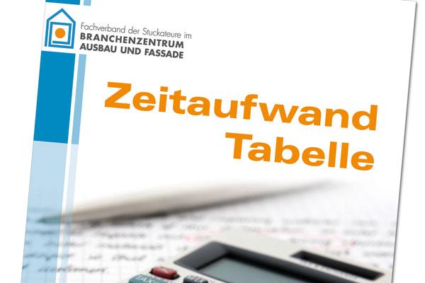 Kalkulation Zeitaufwand-Tabelle Ausbau und Fassade SAF