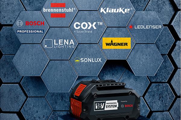 Bosch öffnet Professional 18V System für Profi-Marken
