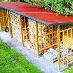 Brennholzlager selber bauen