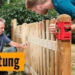 Anleitung zum Bau eines Holz-Gartenzauns