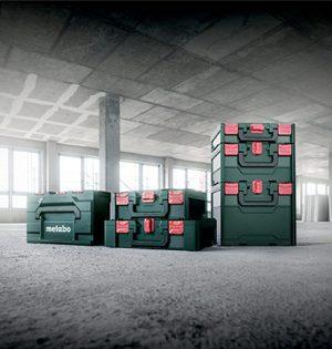 Die Koffer des neuen metaBOX Systems gibt es in zwei Breiten und fünf Höhen
