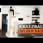 Kratzbaum/Kletterwand für Katzen