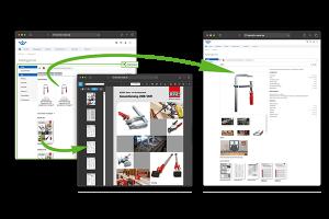 Bessey-Unterlagen in der OXOMI-Integration im Onlineshop von Heinrich Meier