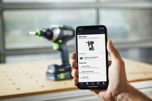 Zusammen mit der kostenlosen Work App (iOS und Android) und einem Bluetooth Akkupack bieten die beiden Akku-Bohrschrauber zahlreiche praktische Zusatzfunktionen.