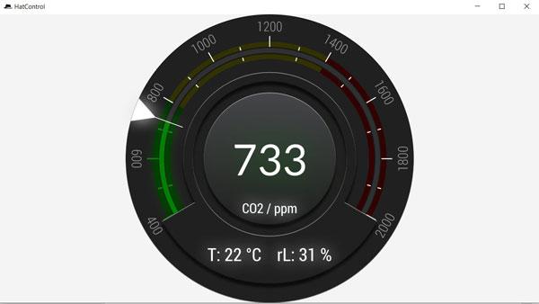 Mit einer Desktop-Software lassen sich die Messwerte der CO2-Ampel am PC anzeigen - aber nur wenn das Messgerät mittels USB-Kabel verbunden ist.