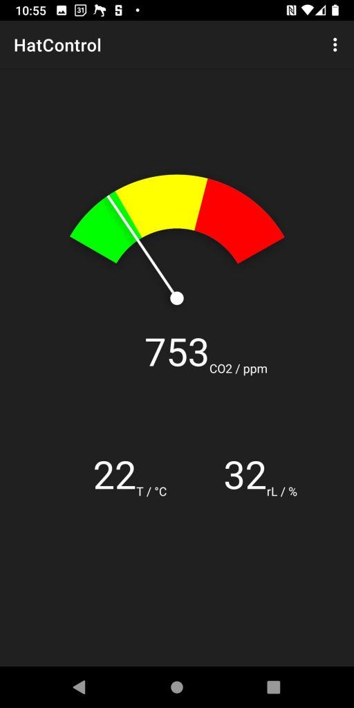 Über eine App lassen sich die Messwerte auf dem Smartphone anzeigen. Im Test funktionierte die App mit unserem Cat S62 Pro perfekt.