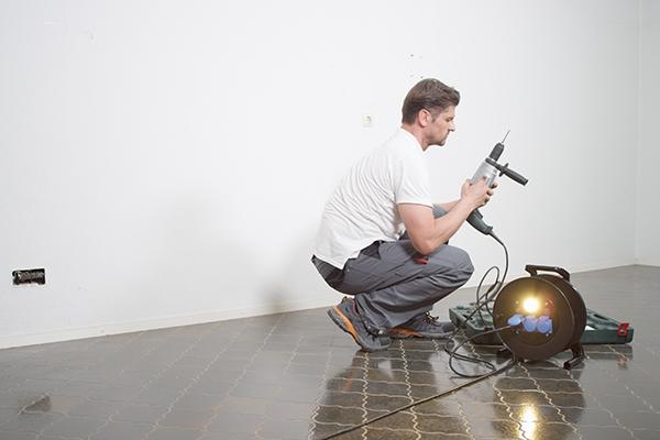 Kabeltrommel mit integrierter LED-Leuchte
