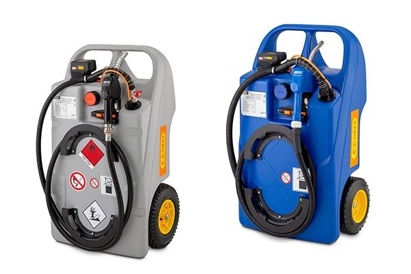 CEMO bringt zwei Trolleys, jeweils für Diesel oder AdBlue, mit CAS-Akkutechnologie auf den Markt.