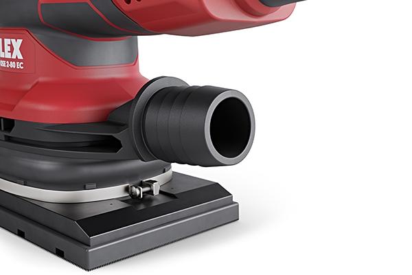 Die neuen Einhandschleifer können mit entsprechendem Adapter an sämtliche Sicherheitssauger von FLEX angeschlossen werden.