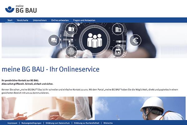 Online-Portal BG BAU