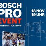 Bosch PRO Event: Profitipps für Handwerker